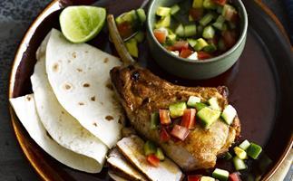 MEXICAN PORK CUTLETS with Avocado Salsa