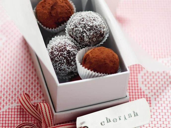 "**[Chocolate balls](https://www.womensweeklyfood.com.au/recipes/chocolate-balls-9101|target=""_blank"")**"