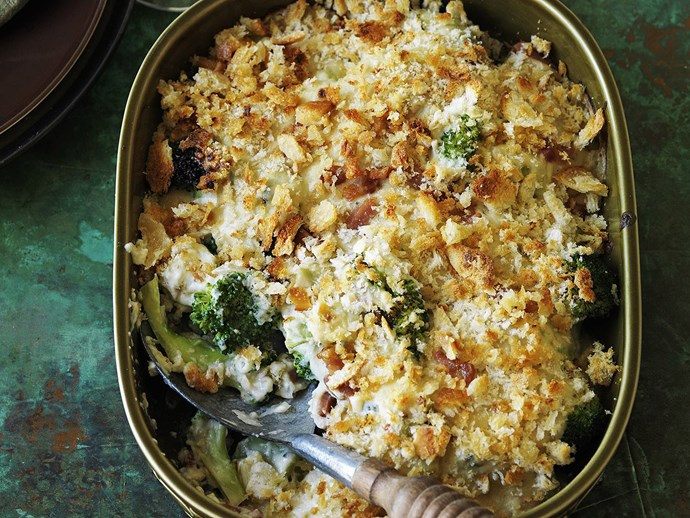 BROCCOLI, PANCETTA and Blue Cheese Gratin