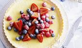 Mixed berry and ricotta tart