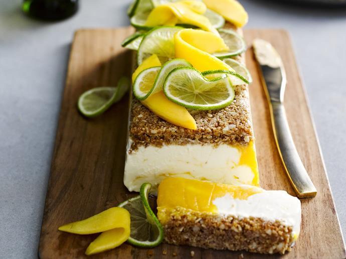 "[Frozen mango macadamia crunch](https://www.womensweeklyfood.com.au/recipes/frozen-mango-macadamia-crunch-8826|target=""_blank"")"