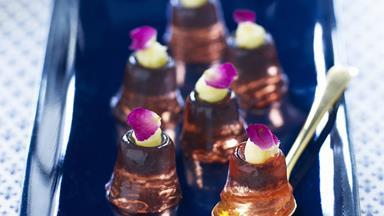Rosé wine jellies