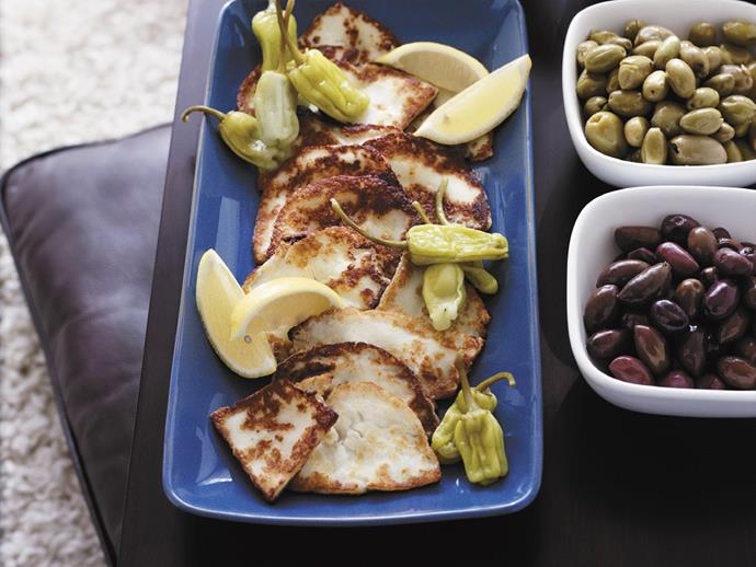 """**[Grilled haloumi](https://www.womensweeklyfood.com.au/recipes/grilled-haloumi-15245