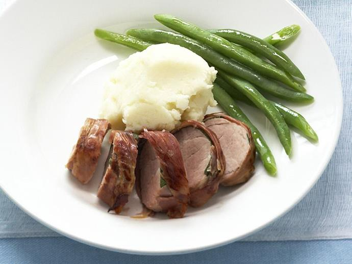 """**[Prosciutto and sage pork fillet](https://www.womensweeklyfood.com.au/recipes/prosciutto-and-sage-pork-fillet-3450