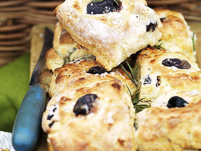 "**[Olive and rosemary quick bread](https://www.womensweeklyfood.com.au/recipes/olive-and-rosemary-quick-bread-8620|target=""_blank"")**"