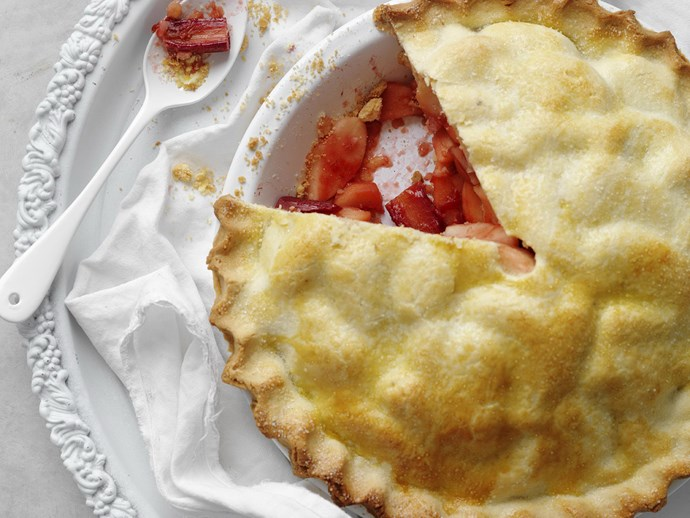 "[Old-fashioned apple and rhubarb pie recipe.](http://www.foodtolove.com.au/recipes/old-fashioned-apple-and-rhubarb-pie-25689|target=""_blank"")"