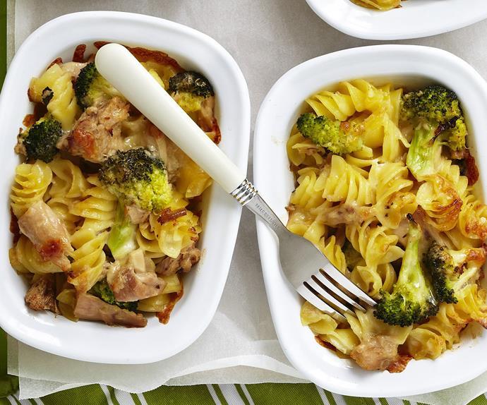 lemony tuna and pasta bake