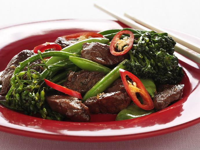 """**[Lamb char siu stir-fry](https://www.womensweeklyfood.com.au/recipes/lamb-char-siu-stir-fry-8277