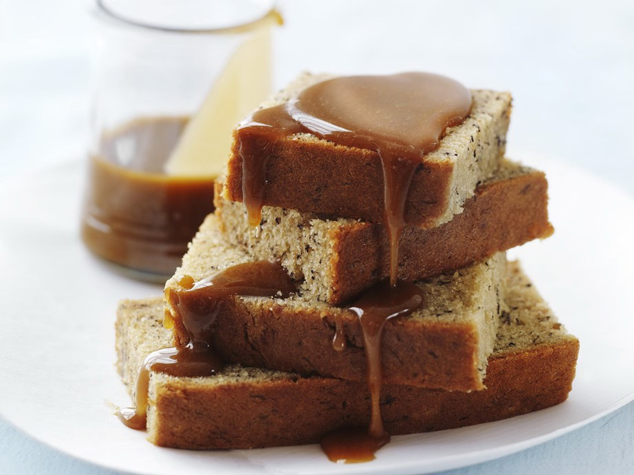 "This simple [banana cake with caramel sauce](https://www.womensweeklyfood.com.au/recipes/banana-cake-with-caramel-sauce-7434|target=""_blank"") is a match made in heaven!"
