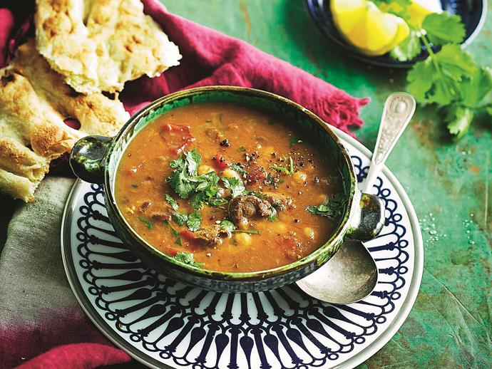 """**[Harira](https://www.womensweeklyfood.com.au/recipes/harira-28518 target=""""_blank"""")**  This tasty Moroccan soup is traditionally eaten to break the daily fast during the month of Ramadan, but it is also a delicious midweek dinner, or light winter snack!"""