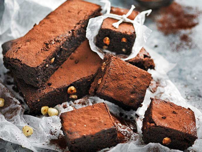 "**[Sugar-free chocolate hazelnut brownies](https://www.womensweeklyfood.com.au/recipes/sugar-free-chocolate-hazelnut-brownies-28524|target=""_blank"")**  These rich, dense chocolate brownies rely on dates and rice malt syrup for their guilt-free sweetness."