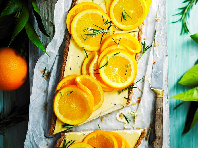 "**[Sugar-free rosemary, labne and orange tart](https://www.womensweeklyfood.com.au/recipes/sugar-free-rosemary-labne-and-orange-tart-28528|target=""_blank"")**  Make this unusual combination the star of your next gathering. Sugar-free and gluten-free too, it will wow your guests."