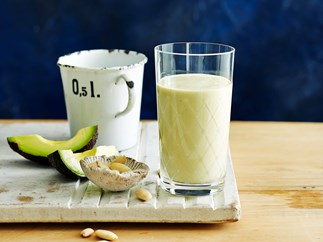 Almond and avocado protein smoothie