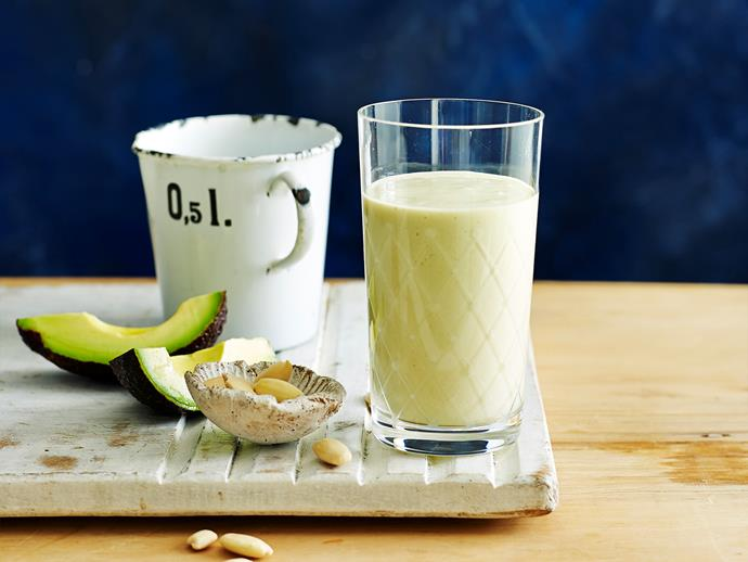 "[Almond and avocado protein smoothie](https://www.womensweeklyfood.com.au/recipes/almond-and-avocado-protein-smoothie-28533|target=""_blank"")"