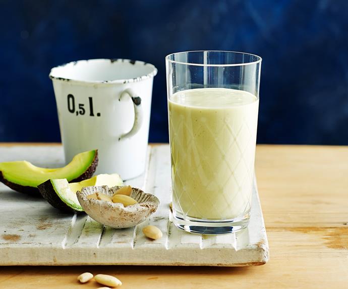 Almond and avocado protein smoothie