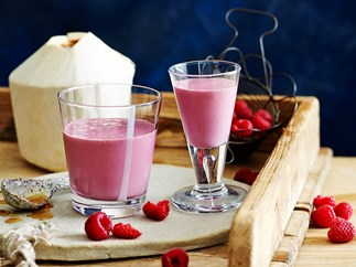 Creamy raspberry smoothie