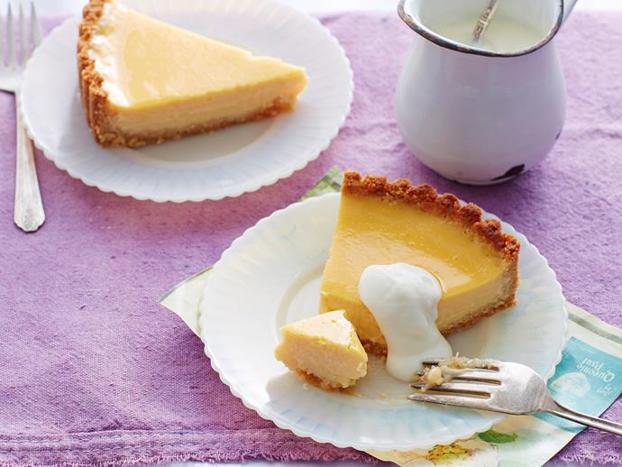 "**[Baked lemon and coconut tart recipe](https://www.womensweeklyfood.com.au/recipes/baked-lemon-and-coconut-tart-28537|target=""_blank"")**"