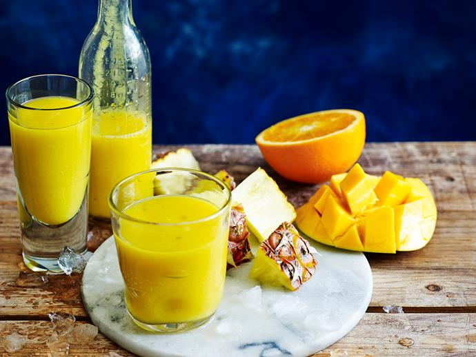 "**[Summer sunrise](https://www.womensweeklyfood.com.au/recipes/summer-sunrise-28542|target=""_blank""):** Low kilojoule, low fat, a source of fibre and high in vitamin C. Benefits of vitamin C may include protecting our health against immune system deficiencies, cardiovascular disease, cancer, eye disease and immunity."