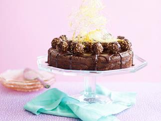 Gluten-free chocolate indulgence cake