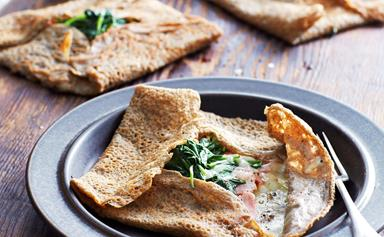 Ham and cheese galettes