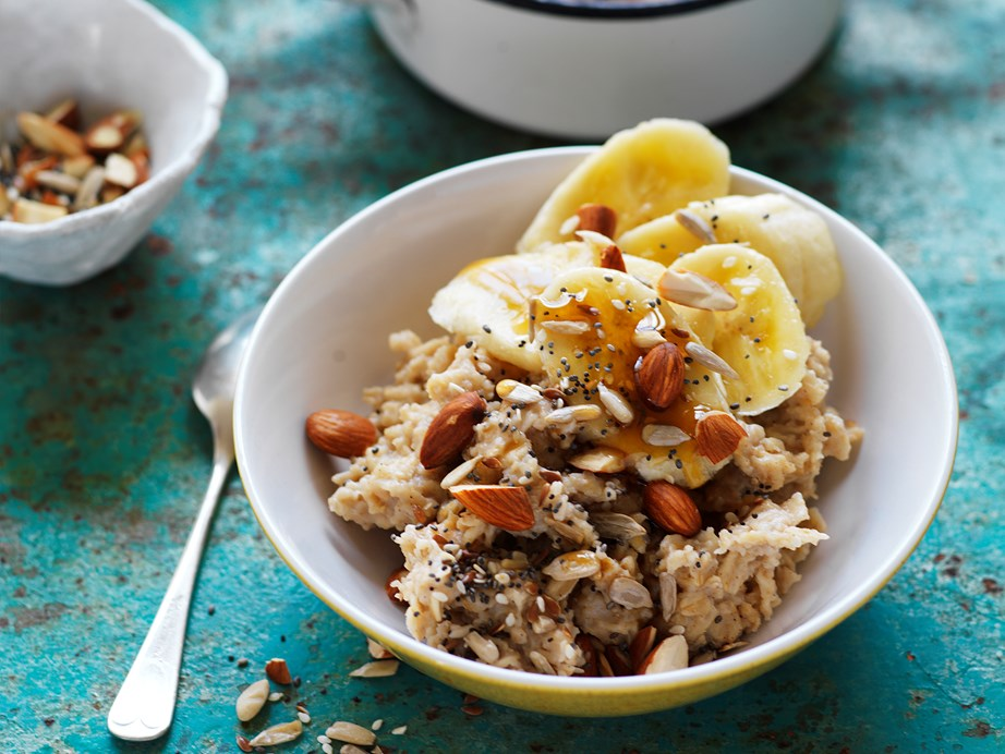 """Start your morning the right way with this nourishing [soy porridge](https://www.womensweeklyfood.com.au/recipes/soy-porridge-with-banana-whole-seeds-and-almonds-16517