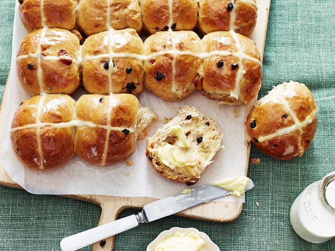 """And would it be Easter without **[hot cross buns](http://www.foodtolove.com.au/recipes/best-ever-hot-cross-buns-16548