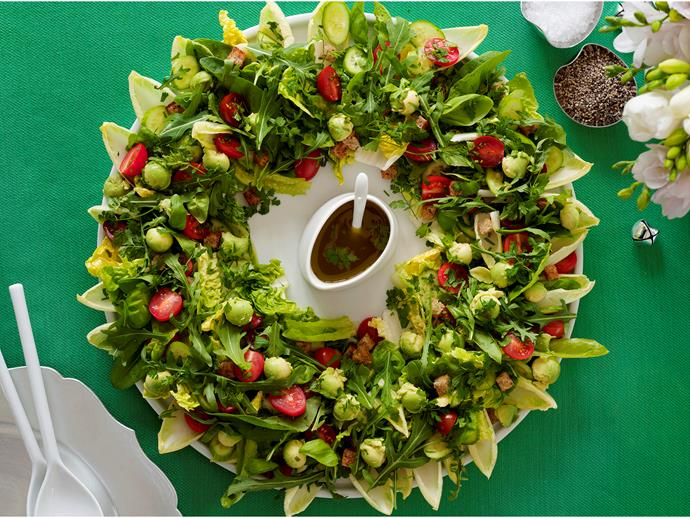 """**[Christmas wreath salad](https://womensweeklyfood.com.au/recipes/christmas-wreath-salad-7436