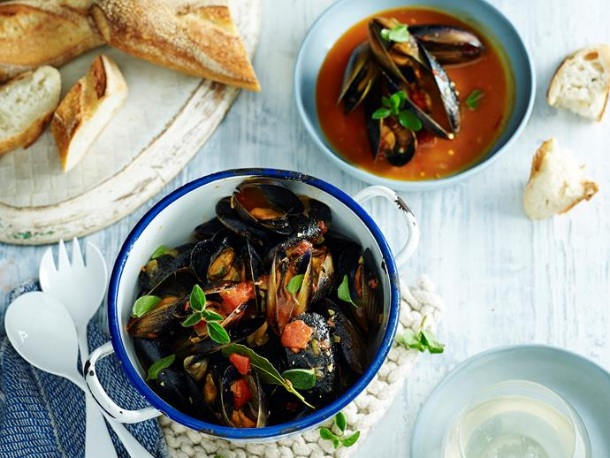 "Enjoy a [bowl of these fragrant mussels](https://www.womensweeklyfood.com.au/recipes/a-bowl-of-mussels-28573|target=""_blank"") with a glass of wine for an indulgent weekend dinner with friends. Experience fresh, flavoursome seafood in the comfort of your own home."