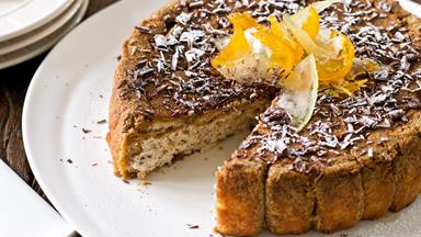 Ricotta and coffee cassata with glacé fruits
