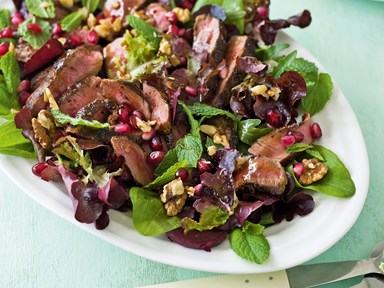 Seared lamb salad and ras el hanout spices