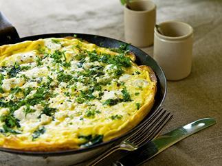 Swiss chard omelette