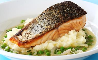How to get crispy skinned salmon