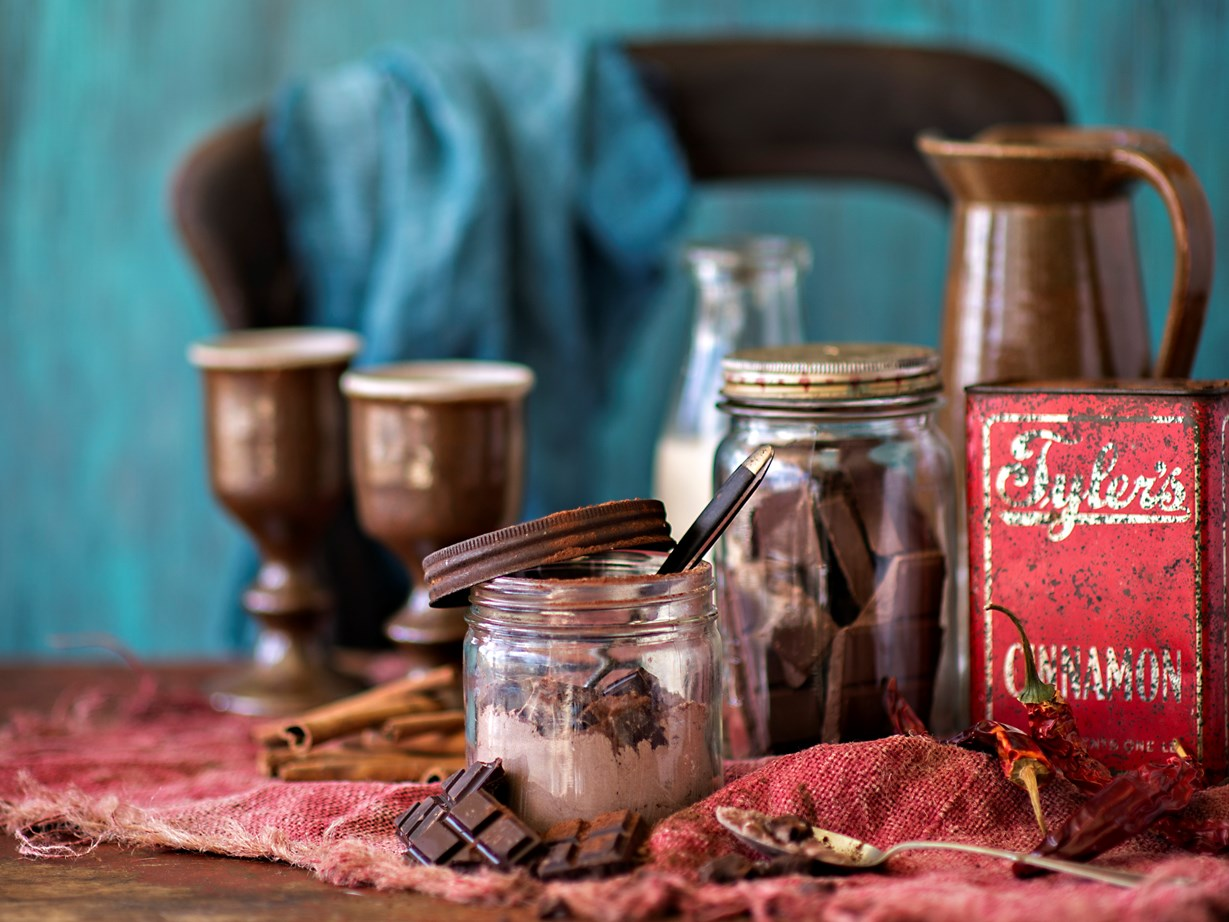"""Try [homemade hot chocolate mix](http://www.foodtolove.co.nz/recipes/mexican-hot-chocolate-mix-28042 target=""""_blank"""") for a sweet present."""