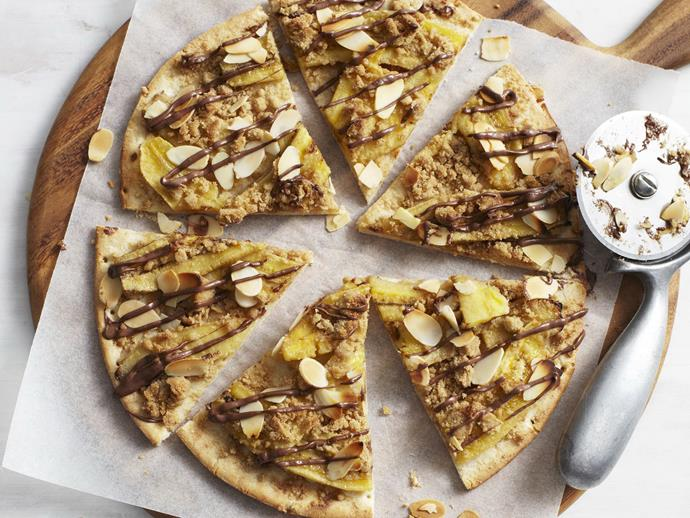 "Who said pizza has to be limited to savoury? This **[banana and choc-hazelnut dessert pizza](https://www.womensweeklyfood.com.au/recipes/banana-and-choc-hazelnut-dessert-pizza-28580|target=""_blank"")** is the perfect way to end a meal."