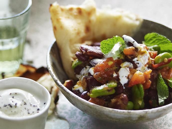 """This traditional [South African bean curry](https://www.womensweeklyfood.com.au/recipes/south-african-bean-curry-15294