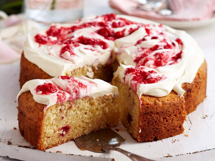 "**[Coconut and raspberry cake recipe](https://www.womensweeklyfood.com.au/recipes/coconut-and-raspberry-cake-17770|target=""_blank"")**"