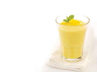 Mint and mango lassi