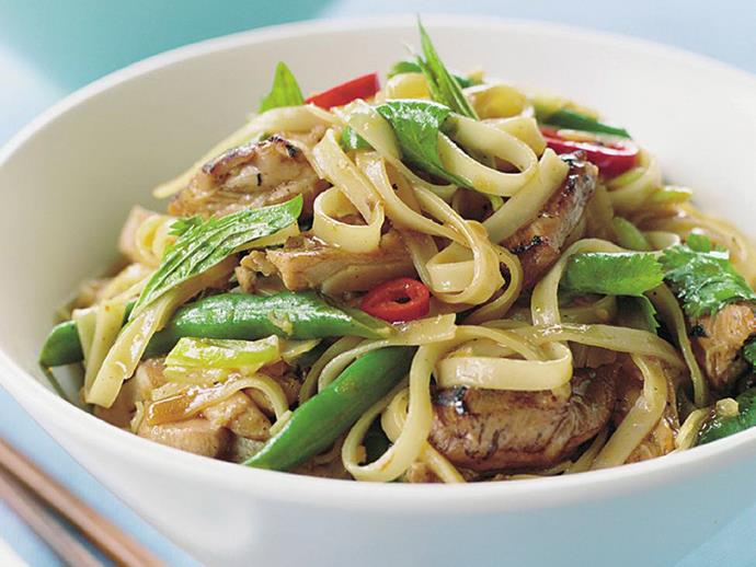 """A tantalising [Thai chicken stir-fry](https://www.womensweeklyfood.com.au/recipes/thai-chicken-stir-fry-6559