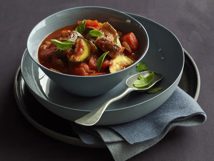 """A spicy [ratatouille recipe](https://www.womensweeklyfood.com.au/recipes/ratatouille-7075