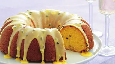Passionfruit buttermilk syrup cake