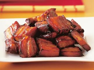 Roasted char siu pork spare ribs