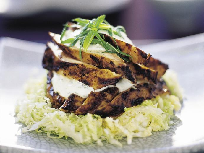 "**[Chicken tikka with cucumber-mint raita](https://www.womensweeklyfood.com.au/recipes/chicken-tikka-with-cucumber-mint-raita-6535|target=""_blank"")**  A quick version of the popular starter in many Indian restaurants, we use ready-made tikka paste."