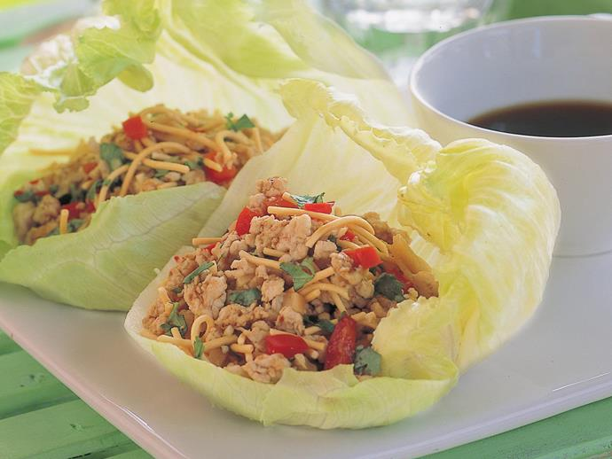"**[Chicken sang choy bow](https://www.womensweeklyfood.com.au/recipes/chicken-sang-choy-bow-6545|target=""_blank"")**  These delicious Chinese-style chicken stir-fry cups are perfect for sharing on platters."