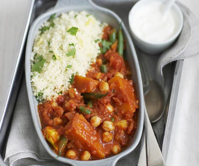 Vegetable tagine with lemon couscous