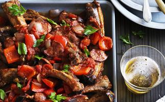 Pork ribs with chorizo and smoked paprika