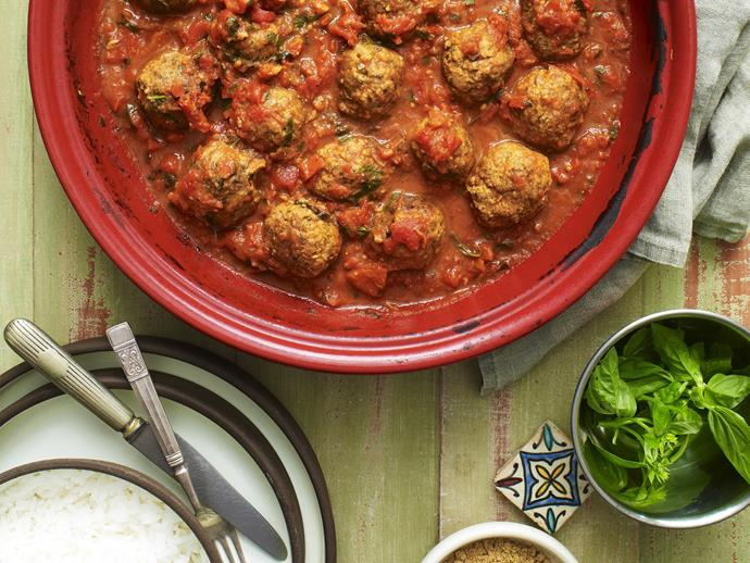 """**[Lamb kefta tagine](https://www.womensweeklyfood.com.au/recipes/lamb-kefta-tagine-15296