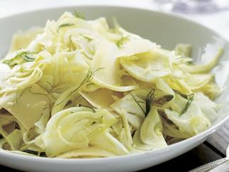 Shaved fennel and parmesan salad