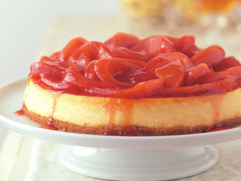 """Who wouldn't want a slice of this [vanilla cheesecake, piled high with poached quince?](https://www.womensweeklyfood.com.au/recipes/vanilla-cheesecake-with-poached-quinces-6812