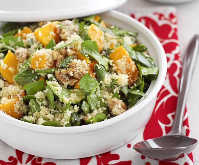 Roasted pumpkin and spinach couscous