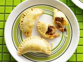 Chicken, raisin and pine nut empanadas